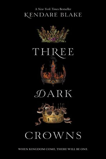 three different crowns set against a black background.