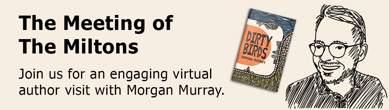 Takes you to the registration page for our virtual author event with Morgan Murray