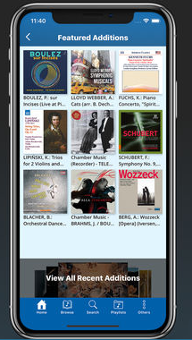 Naxos Music Library app screen
